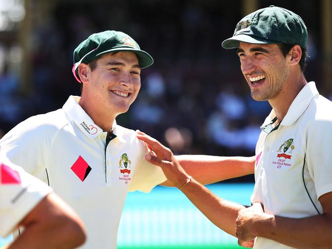 Matt Renshaw and Mitchell Starc after Australia's 3-0 clean sweep of Pakistan.