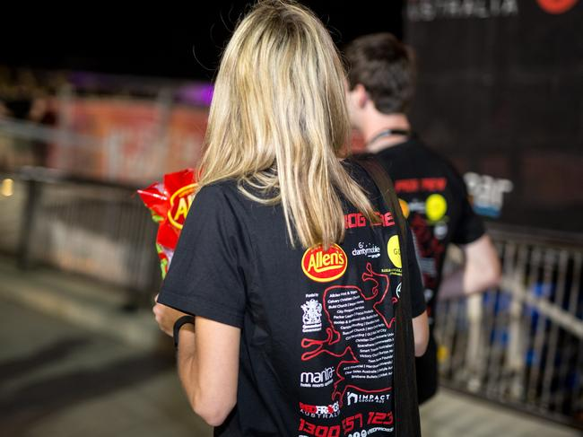 Red Frogs volunteers make sure Schoolies kids get home safe. Picture: Micah Coto