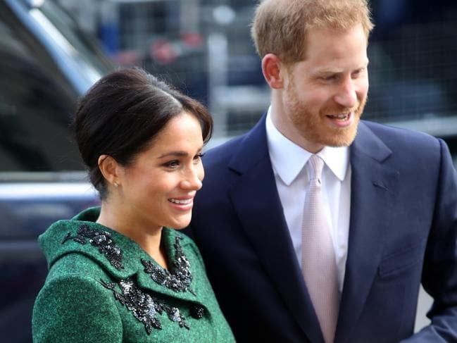 The Duke of Sussex and his wife Meghan attend a Commonwealth Day Youth Event at Canada House last month. Picture: Getty Images