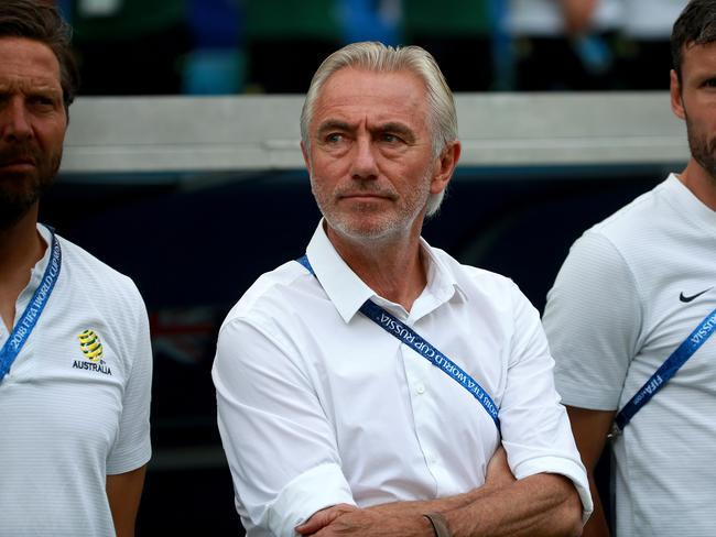 Coach Bert van Marwijk was aware of the work needed to help the long-term issues within the Socceroos. Picture: Toby Zerna
