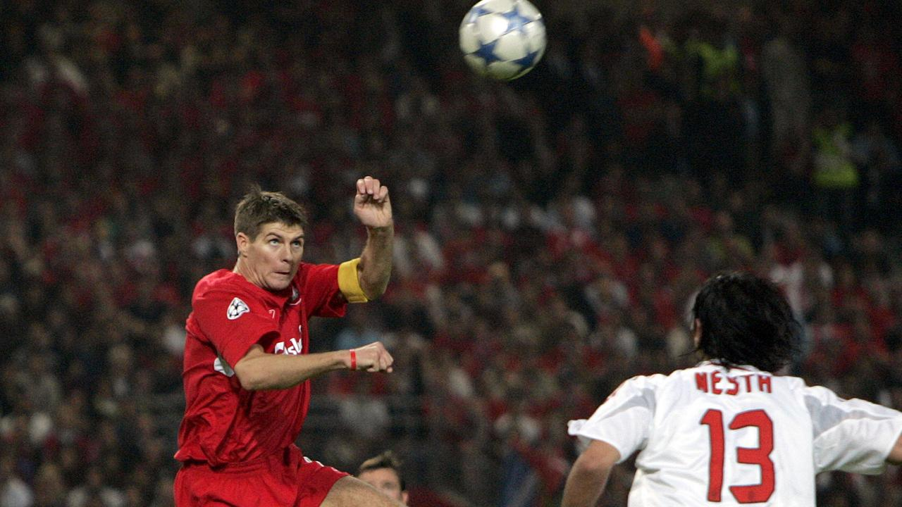 725fdacb4 Steven Gerrard and Alessandro Nesta during the UEFA Champions League Final  at the Ataturk Olympic Stadium