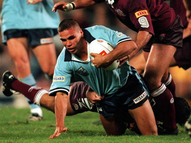 Anthony Mundine in one of his three appearances for the NSW Blues.