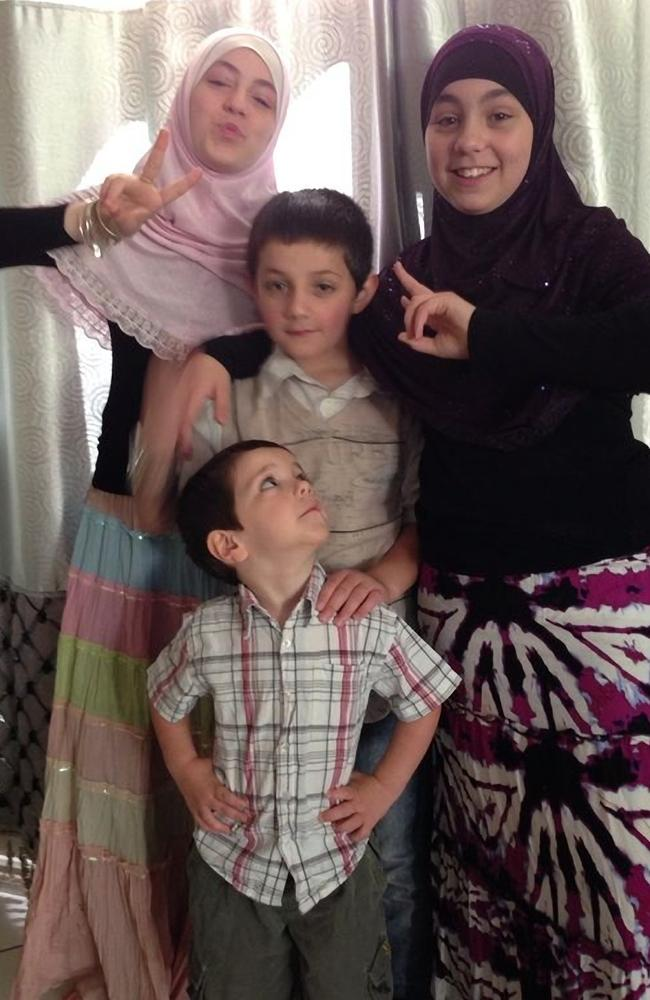 Zaynab (pink), Abdullah (deceased), Hoda (purple) and Humzeh (front centre).