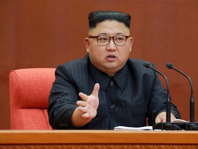 North Korean leader Kim Jong-un is still not backing down. Picture: KCNA, AFP