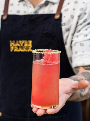 A tequila-based cocktail with watermelon. Picture: Supplied