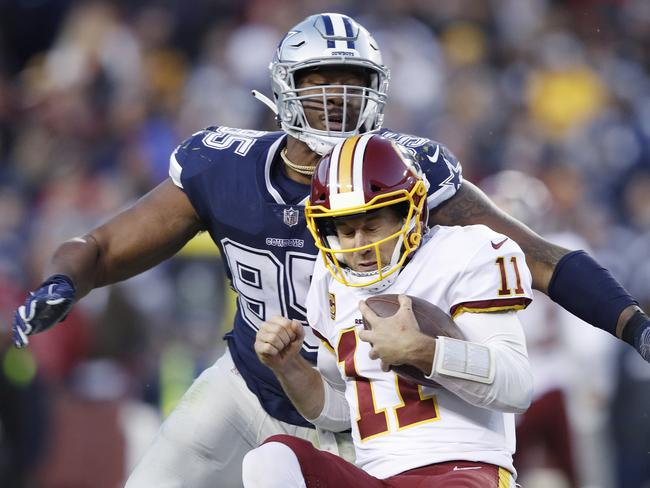 David Irving in a rare slice of action for the Cowboys last season.