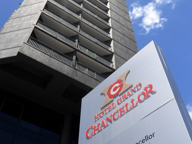 Two people who had been to the Hotel Grand Chancellor in Brisbane entered South Australia but are no longer in the state. Picture: NCA NewsWire / Dan Peled