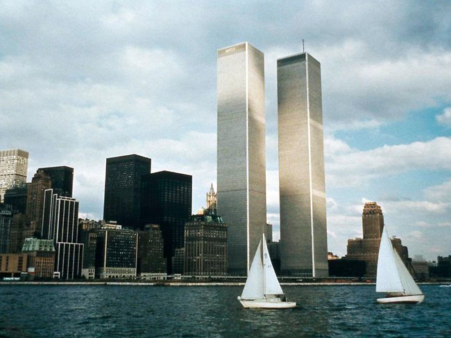 The twin towers stood as New York's tallest until the terrorist attacks of September 11, 2001, when two planes crashed into the World Trade Center causing the twin 110-story towers to collapse.