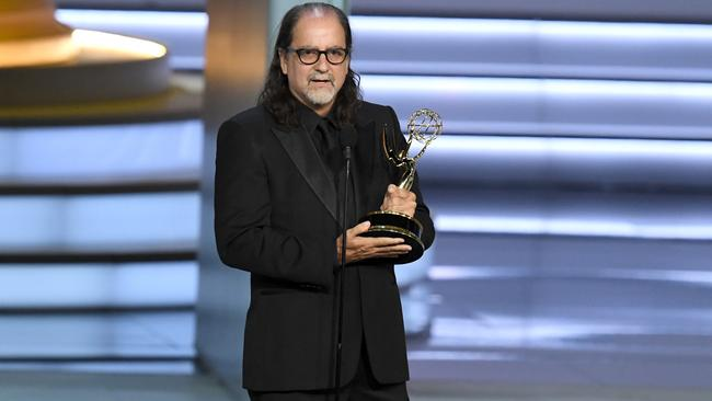 Glenn Weiss accepts the Outstanding Directing for a Variety Special award for The Oscars.