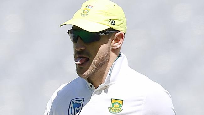 South Africa's Faf du Plessis was charged with ball tampering last summer.