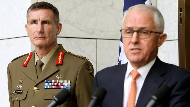 New defence chief Lieutenant General Angus Campbell at the announcement of his promotion. Picture: Kym Smith.