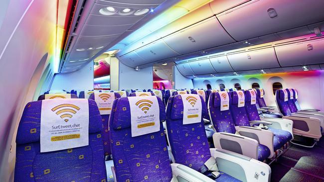 Scoot's 787 economy cabin.
