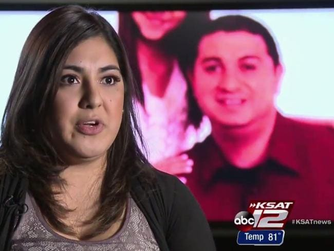 Ashley Garcia with her uncle Alfred Aragon in the background. Picture: KSAT ABC