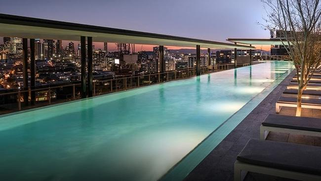 WINNER: Cbus National High Rise Apartment Building — Cavcorp QLD for Lucent Gasworks, Brisbane. The residential high rise has Australia's longest rooftop pool. Picture: Supplied.