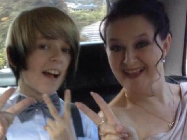 Taylor has thrived since coming out as transgender with a supportive family. Picture: Supplied