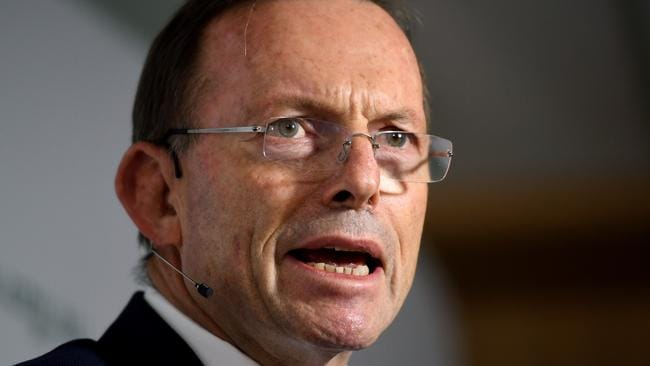 Tony Abbott has expressed confidence in the new government in a speech.