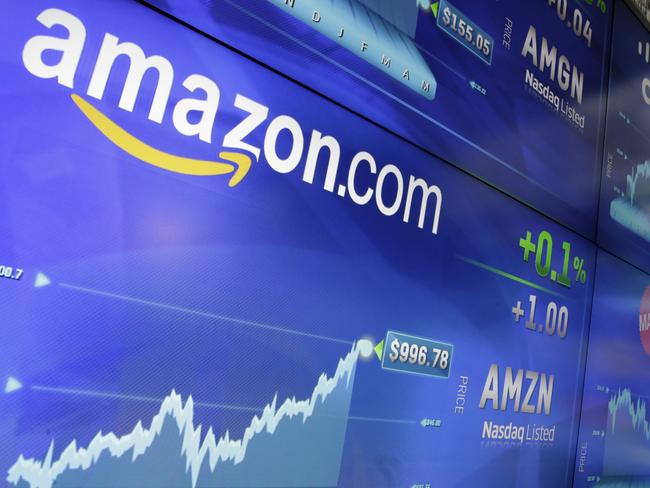 Amazon shares just reached $US1000, putting it in an elite club. Picture: AP Photo/Richard Drew
