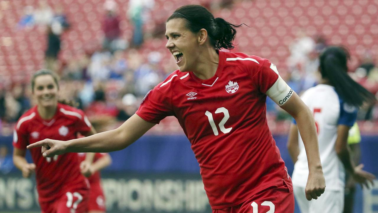 Christine Sinclair's Canada are a dark horse. (AP Photo/Andy Jacobsohn, File)