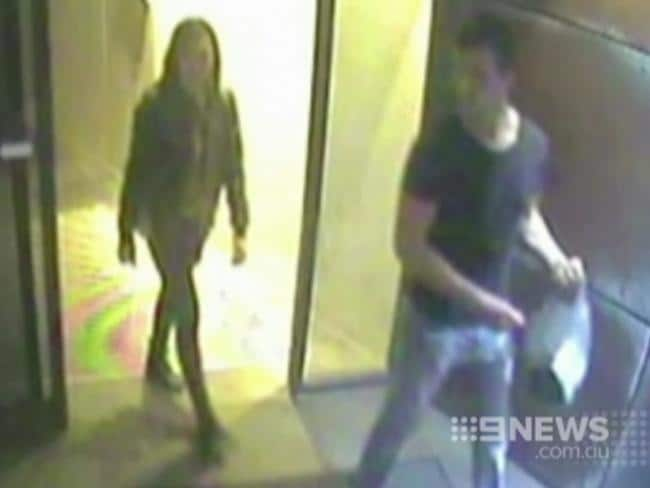 Warriena Wright with Gable Tostee on the night of her death.
