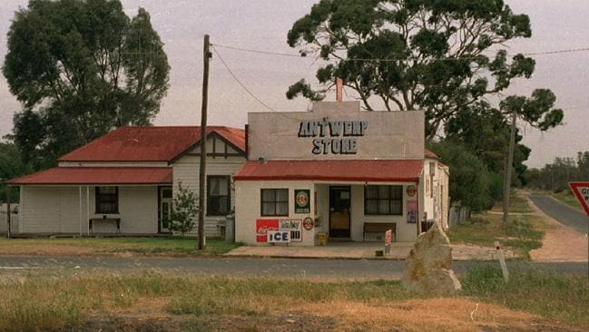The old Antwerp store no longer operates in the tiny outback town which lay half way between Adelaide and Melbourne.