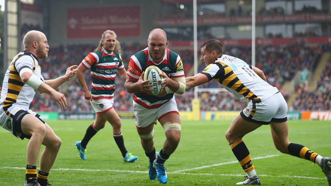 Lachlan McCaffrey scored, but it wasn't enough as Leicester Tigers went down to Wasps.