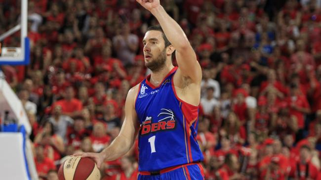 Adam Gibson playing for the Adelaide 36er's during the NBL Grand Final. Picture: Jordan Shields.