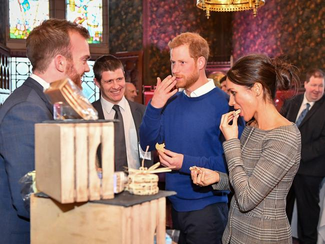 Prince Harry and Meghan Markle have chosen to feed guests a hearty banquet. Picture: Ben Birchall/WPA Pool/Getty Images