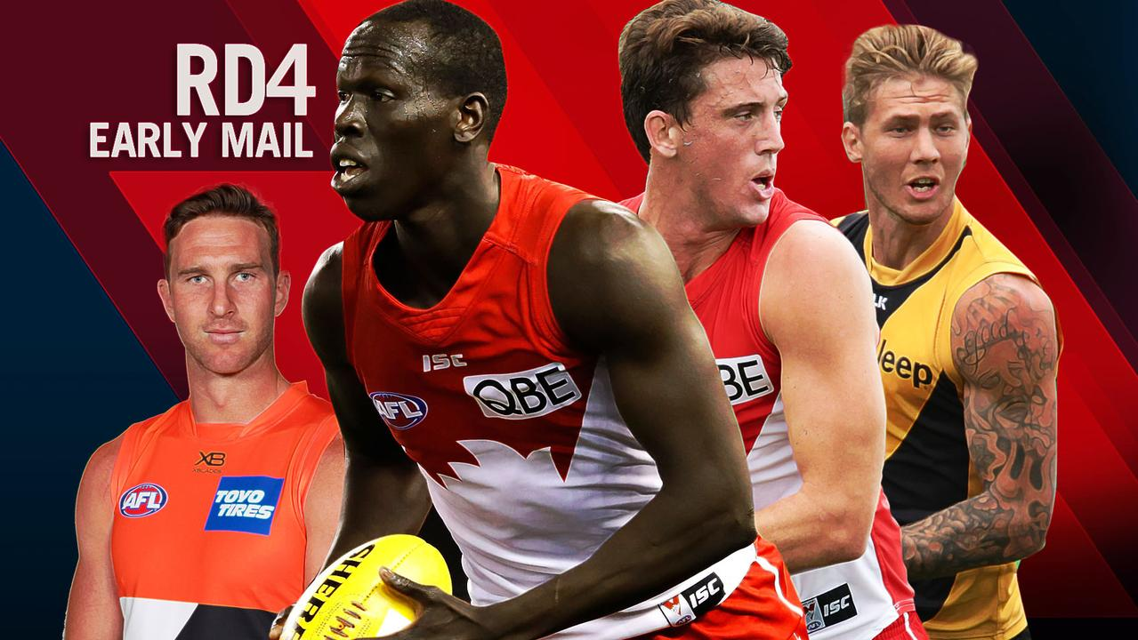 AFL Early Mail, Round 4