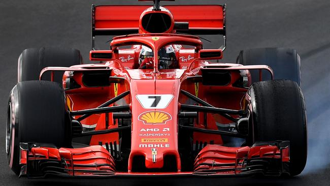 Kimi Raikkonen's Ferrari looked good in testing.