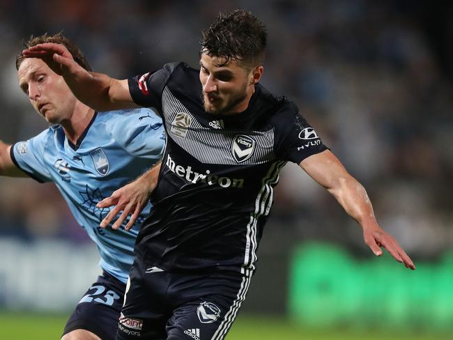 Midfielder Terry Antonis is the last player Melbourne Victory sold. He joined Socceroos striker Adam Taggart at South Koreans Suwon Bluewings. Picture: Brett Costello