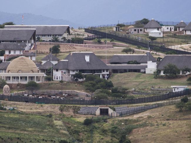 Mr Zuma's luxury compound was dubbed 'Zumaville' for its sheer opulence. Picture: march Longari/AFP