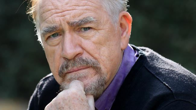 Brian Cox doing serious actor pose.