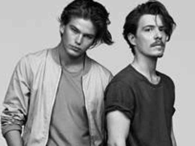 He is no stranger at being in front of the camera (pictured here with Jordan Barrett).