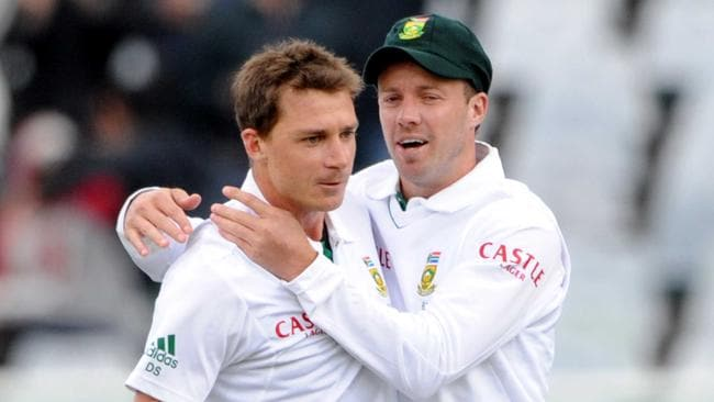 Dale Steyn and AB de villiers (Photo by Lee Warren/Gallo Images/Getty Images)