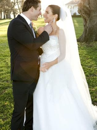Kate Ritchie's wedding gown.