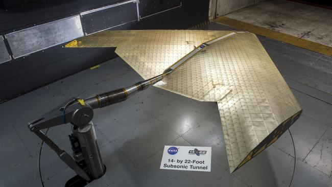 The wings are optimised for each part of the flight — from takeoff to landing and everything in-between, researchers say. Picture: Eli Gershenfel/NASA Ames Research Center
