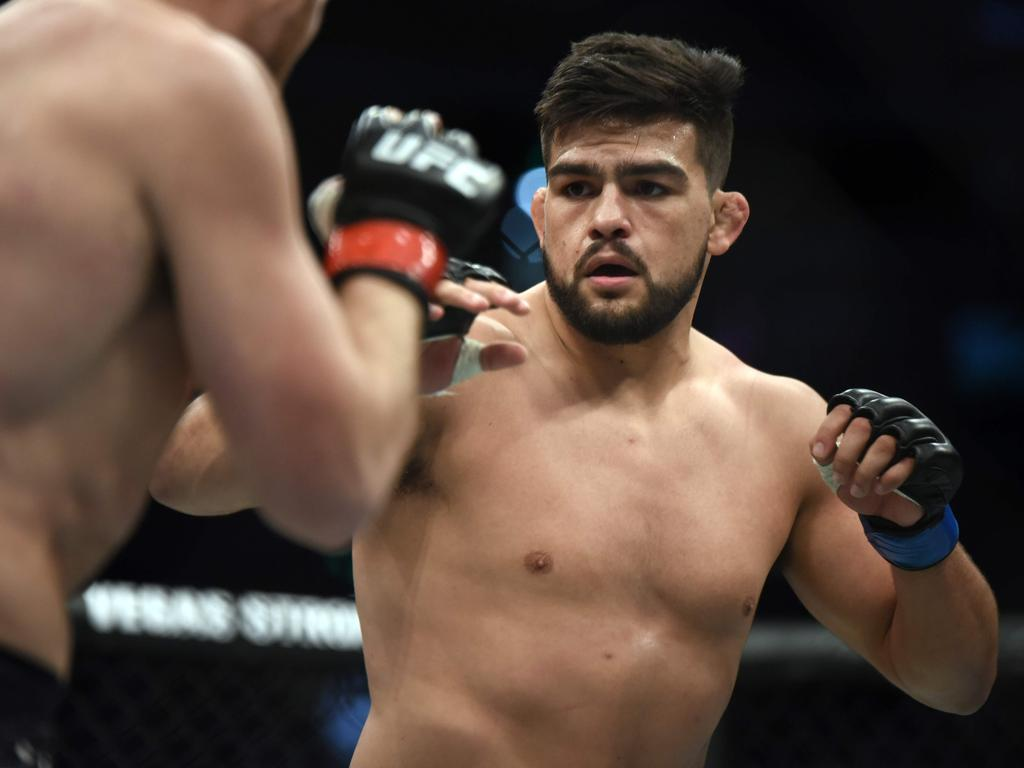 Robert Whittaker will defend his UFC middleweight title against Kelvin Gastelum of the US. Picture: AFP