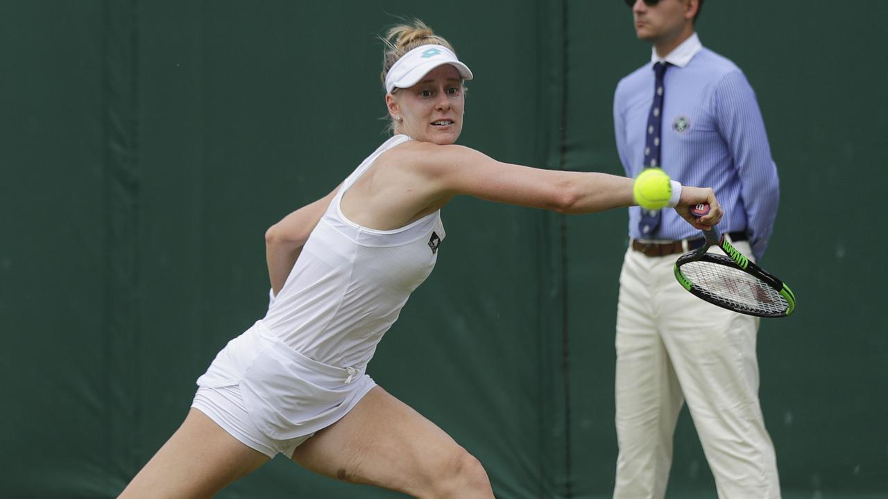 United States' Alison Riske beat Barty in three sets.