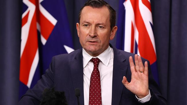 WA Premier Mark McGowan has shut the border to SA, who will now need to quarantine on arrival. Picture: Paul Kane/Getty Images)