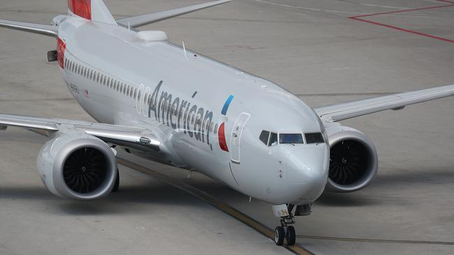 An American Airlines flight had to divert due to a disruptive passenger. Picture: Joe Raedle/Getty Images North America/AFP.