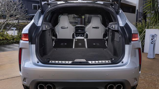 The seats fold down to make a cavernous cargo space.