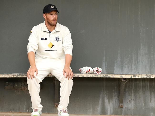 Aaron Finch is leading Victoria from the front.