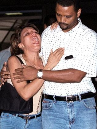 A devastated relative of passengers aboard the American Airlines flight.