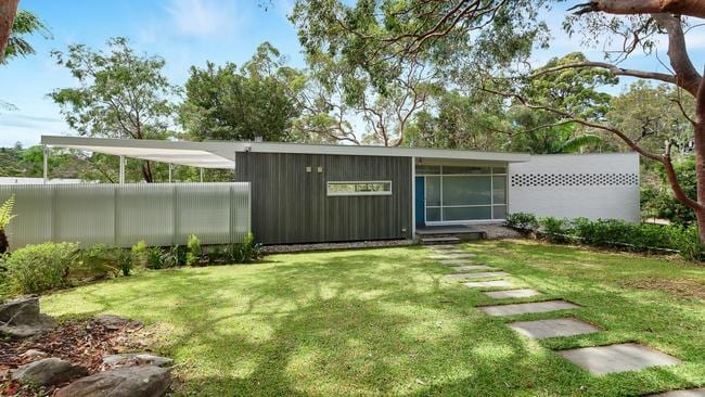 The mid-century modernist home was built circa 1959, but has been refurbished.