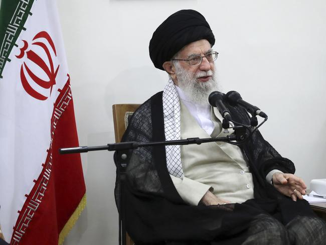 Iranian Supreme Leader Ayatollah Ali Khamenei. Picture: Office of the Iranian Supreme Leader via AP