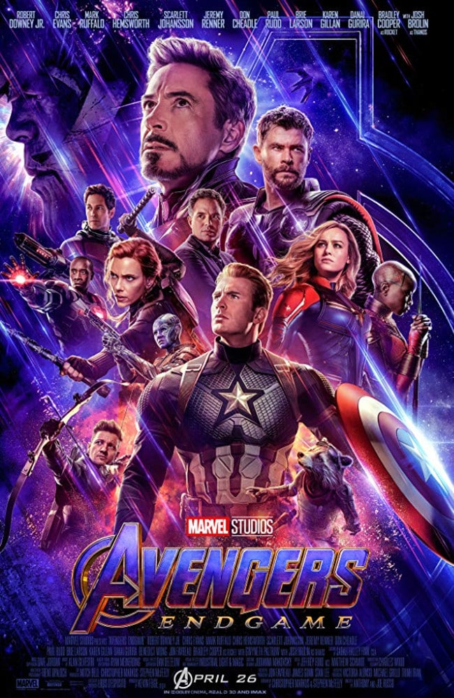 The poster for Avengers: Endgame.