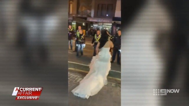 Melbourne couple's wedding caught in police crossfire (ACA)