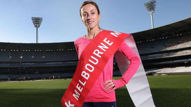 Sinead Diver will be the one to beat in the women's Melbourne Marathon. Picture: David Crosling