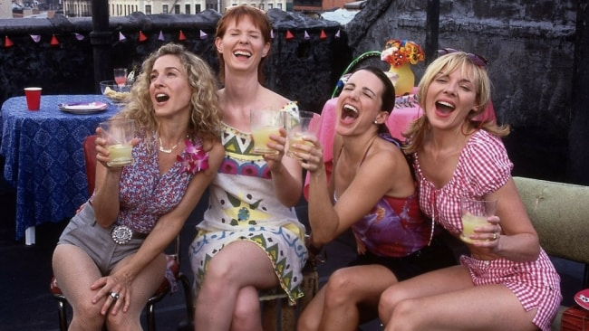 Let's talk about friend-love - like the love shared between Carrie, Miranda, Charlotte and Samantha. Photo: HBO