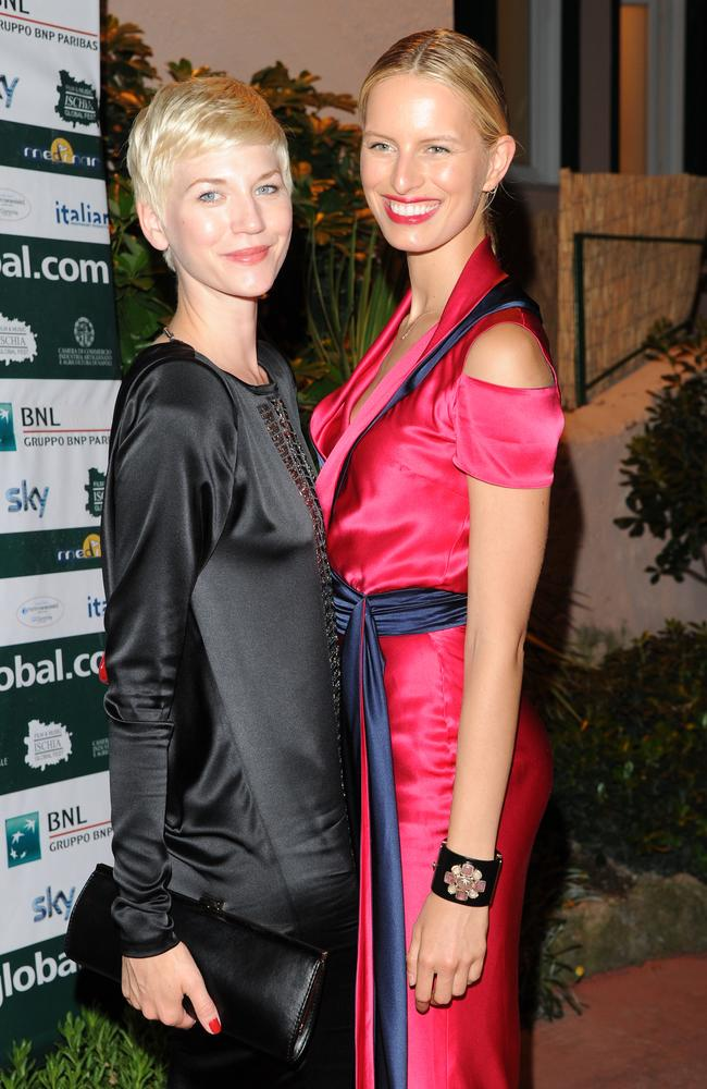 Anna Maria Mostrom and Karolina Kurkova. (Photo by Venturelli/Getty Images)